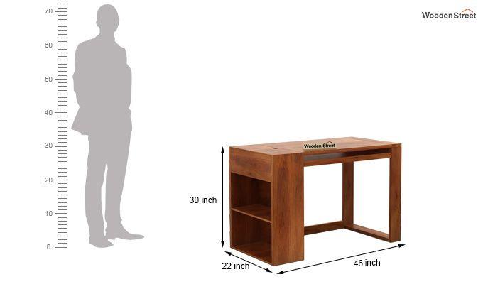 Alkin Office Table (Honey Finish)-6