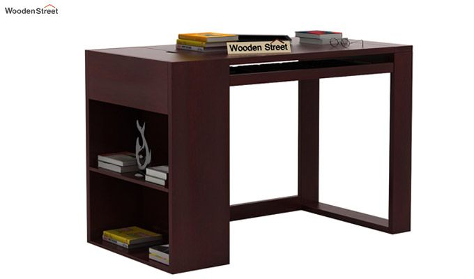 Alkin Office Table (Mahogany Finish)-1