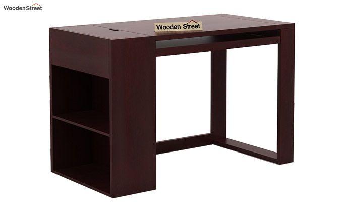 Alkin Office Table (Mahogany Finish)-3