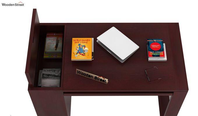 Alkin Office Table (Mahogany Finish)-4