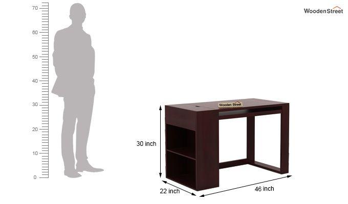 Alkin Office Table (Mahogany Finish)-6