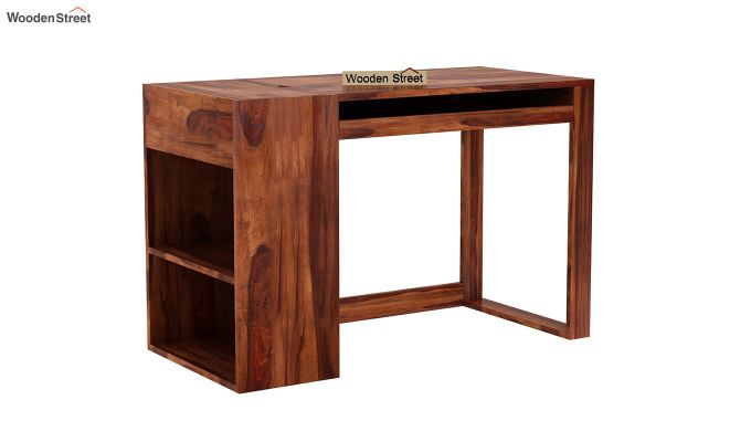 Alkin Office Table (Honey Finish)-2