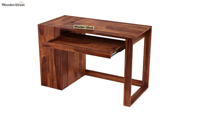 Alkin Office Table (Honey Finish)-4