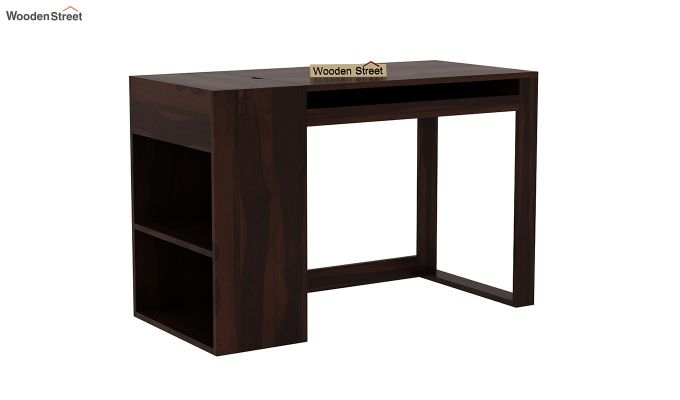 Alkin Office Table (Walnut Finish)-2