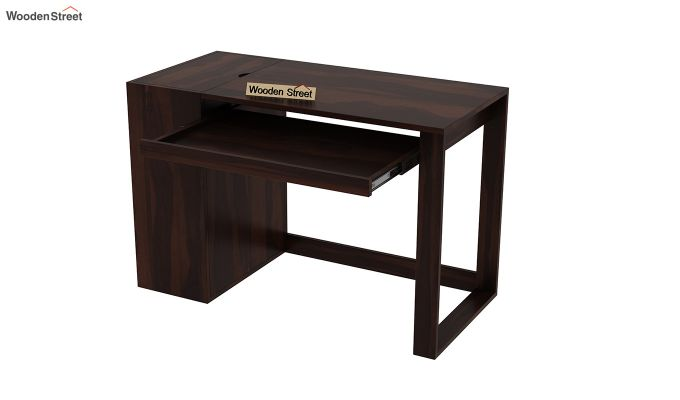Alkin Office Table (Walnut Finish)-4
