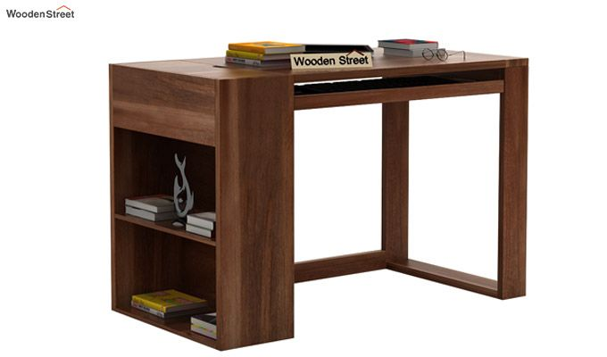 Alkin Study Table (Teak Finish)-1