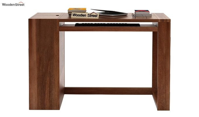 Alkin Study Table (Teak Finish)-2