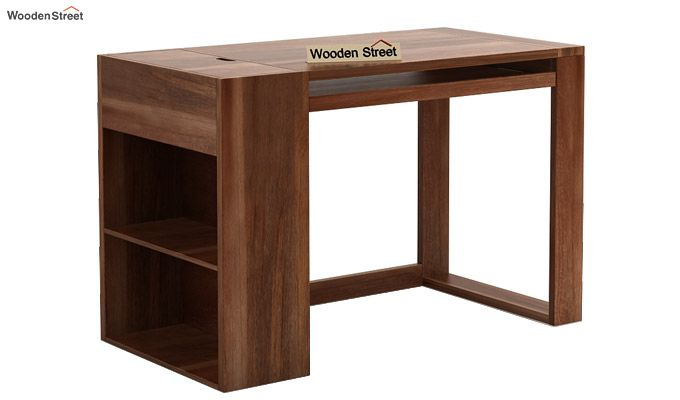 Alkin Study Table (Teak Finish)-3