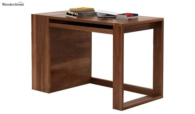 Alkin Study Table (Teak Finish)-5