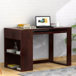 Alkin Study Table (Walnut Finish)