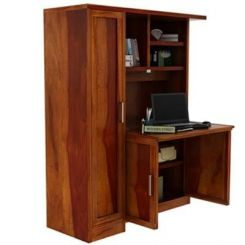 Amstel Study Table Cum Bookshelf (Honey Finish)