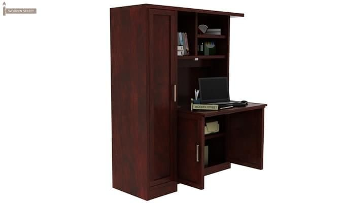 Amstel Study Table Cum Bookshelf (Mahogany Finish)-3