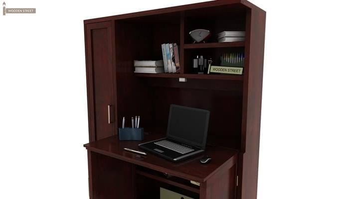 Amstel Study Table Cum Bookshelf (Mahogany Finish)-5