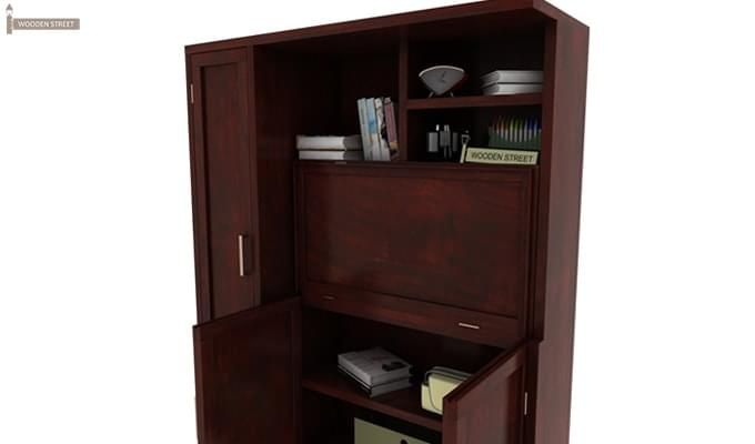 Amstel Study Table Cum Bookshelf (Mahogany Finish)-6