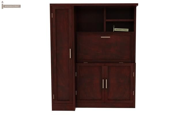 Amstel Study Table Cum Bookshelf (Mahogany Finish)-7