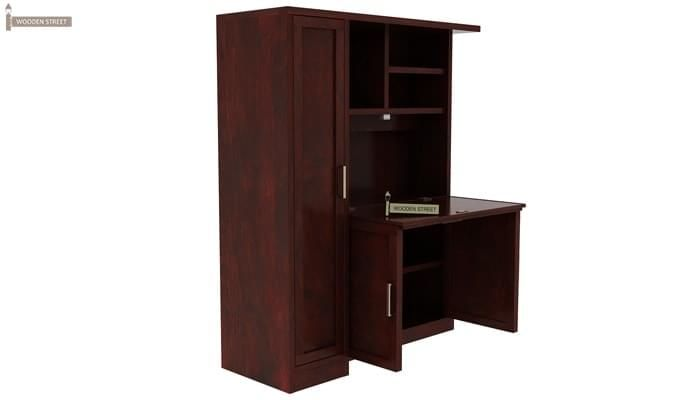 Amstel Study Table Cum Bookshelf (Mahogany Finish)-8