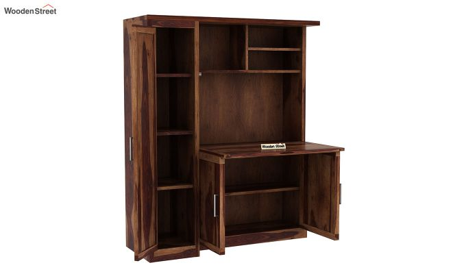 Amstel Study Table Cum Bookshelf (Teak Finish)-5