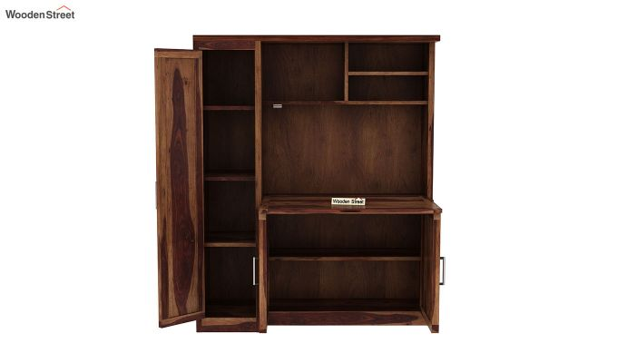 Amstel Study Table Cum Bookshelf (Teak Finish)-6