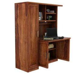 Amstel Study Table Cum Bookshelf (Teak Finish)