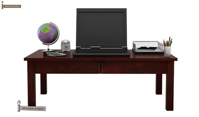 Aveeno Study & Laptop Table (Mahogany Finish)-2
