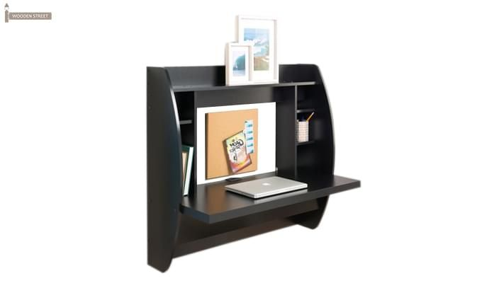 Blair Wall Mounted Study Desk (Black Finish)-1