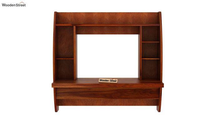 Blair Wall Mounted Study Desk (Honey Finish)-4