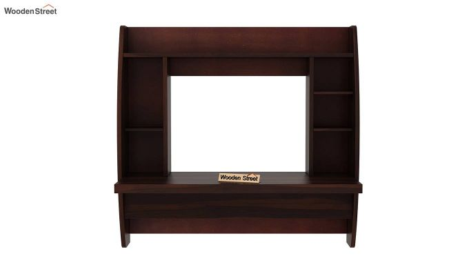 Blair Wall Mounted Study Desk (Walnut Finish)-4
