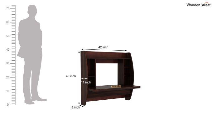 Blair Wall Mounted Study Desk (Walnut Finish)-5