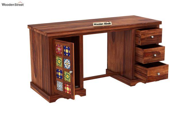 Boho Study Table (Honey Finish)-4