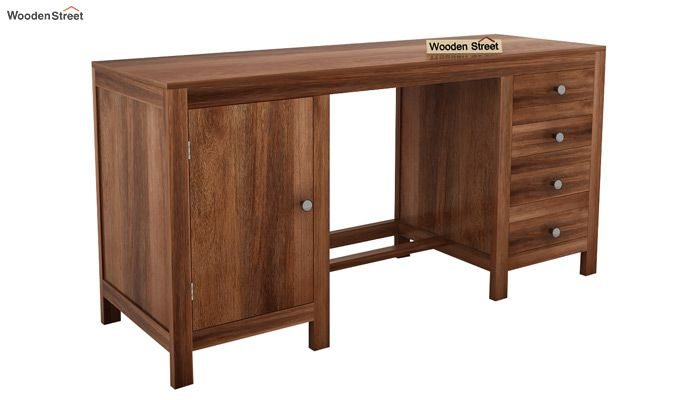 Brason Study Table With Drawer And Cabinet (Teak Finish)-3