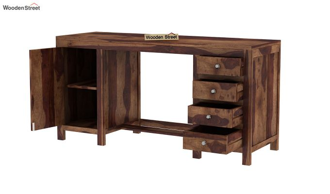 Brason Study Table (Teak Finish)-4