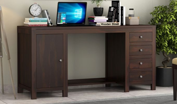 Brason Study Table (Walnut Finish)-1