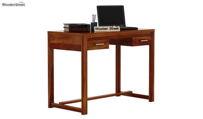 Bruce Study Table (Honey Finish)-2