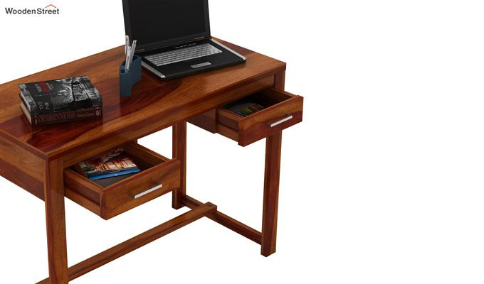 Bruce Study Table (Honey Finish)-5