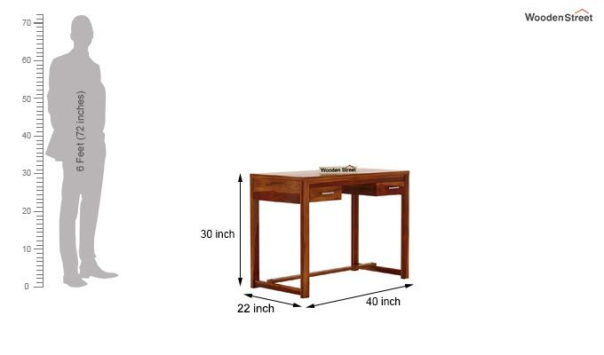 Bruce Study Table (Honey Finish)-6