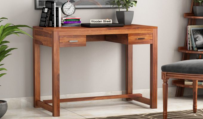 Bruce Study Table (Honey Finish)-1