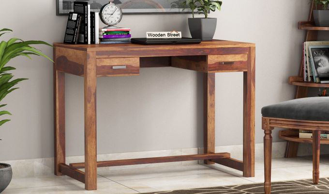 Bruce Study Table (Teak Finish)-1