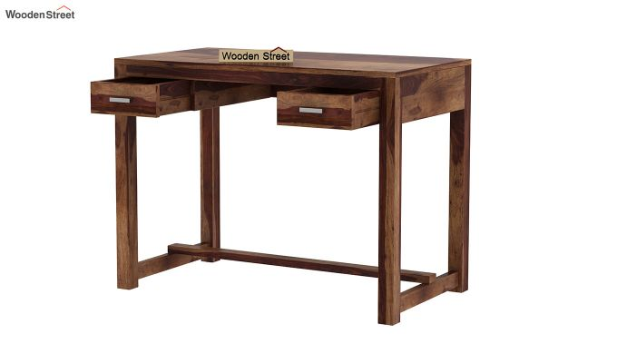 Bruce Study Table (Teak Finish)-4