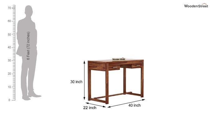 Bruce Study Table (Teak Finish)-5