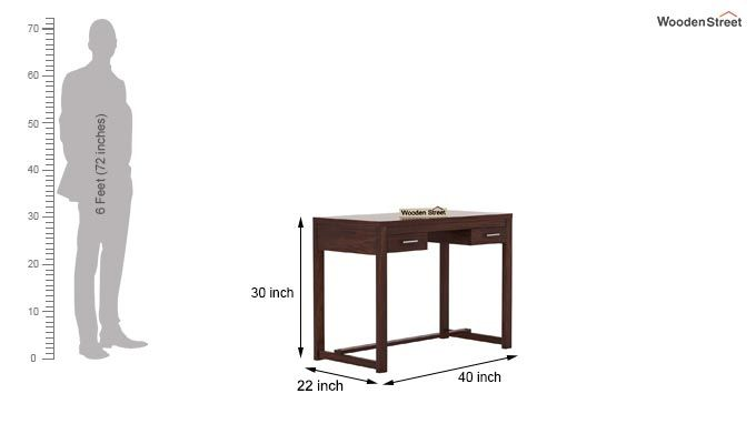 Bruce Study Table (Walnut Finish)-5