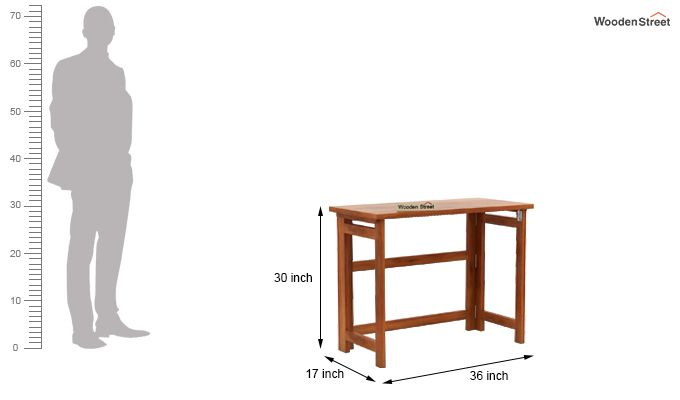 Calvin Study Table (Honey Finish)-8