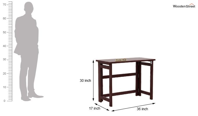 Calvin Study Table (Mahogany Finish)-8