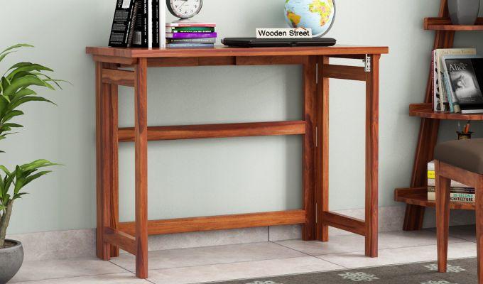 Calvin Study Table (Honey Finish)-1