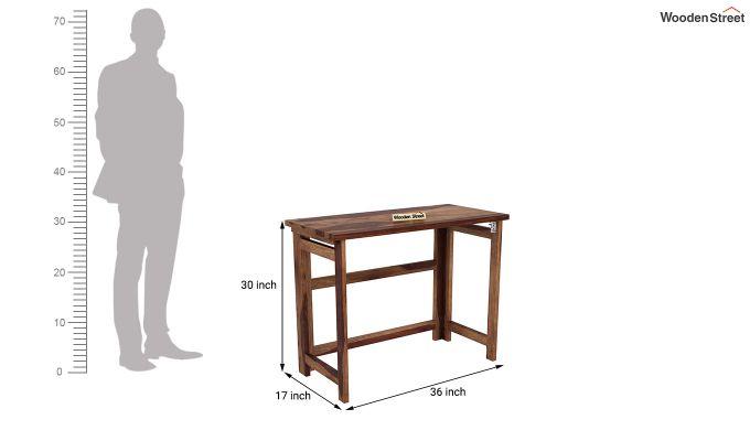 Calvin Study Table (Teak Finish)-10
