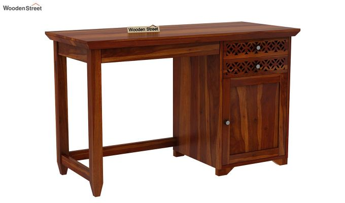 Cambrey Office Table (Honey Finish)-3
