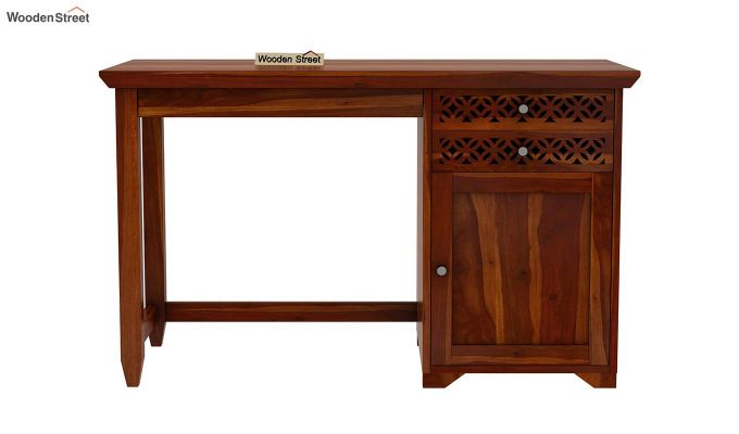 Cambrey Office Table (Honey Finish)-4