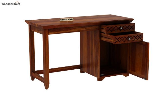 Cambrey Office Table (Honey Finish)-5