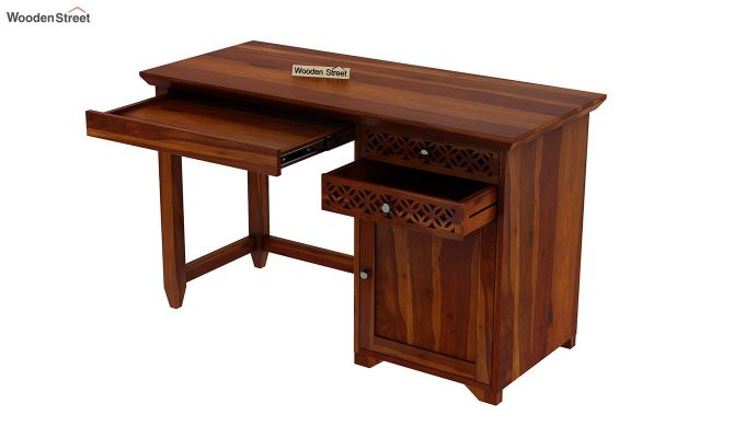 Cambrey Office Table (Honey Finish)-7