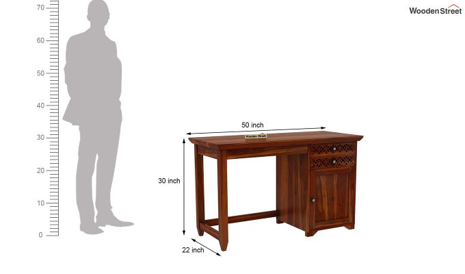 Cambrey Office Table (Honey Finish)-8