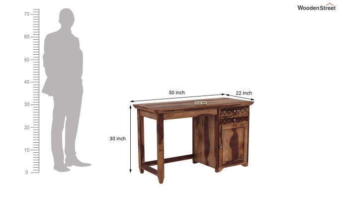 Cambrey Study Table (Teak Finish)-6